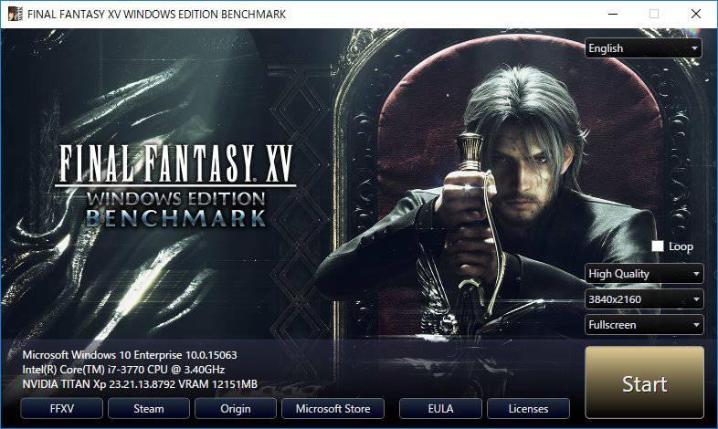 Final Fantasy 15 Benchmark tool Updatecrazy