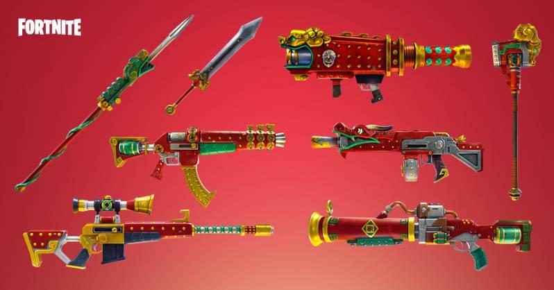 Fortnite update 1.43 Dragon Weapons