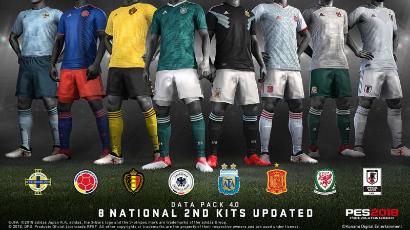 PES 2018 Update 1.06 Data Pack 4 Club kits of 9 teams, along with the National Teams by updatecrazy