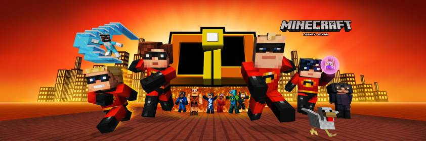 Minecraft The Incredibiles Skin Pack