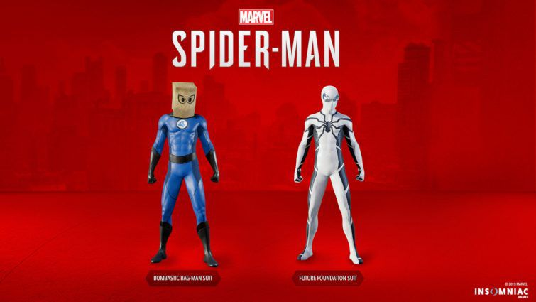 Spiderman 1.14 patch notes added the Bombastic Bag-Man and the Future Foundation suit