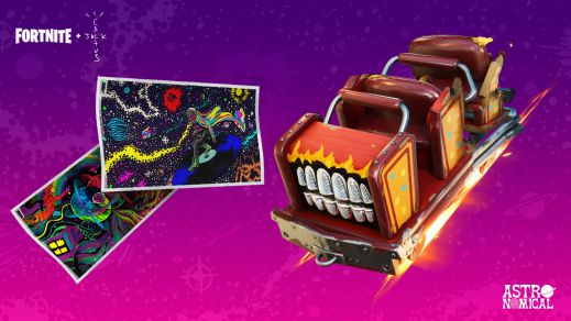 Fortnite update version 2.68 Astroworld Cyclone Glider and two loading screens
