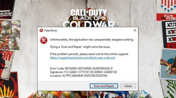 [FIXED] Cold War Error Code 887a0005 (887a0006) Issue [NEW]
