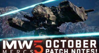 MechWarrior 5 Mercenaries Update 1.02 Patch Notes – Oct 19, 2021